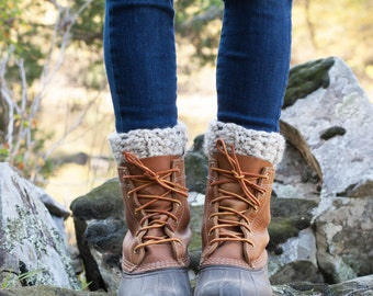 Boot Warmers Leg Warmers Boot Cuffs / THE TUNDRAS / Oatmeal