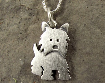 Tiny Westie necklace / pendant