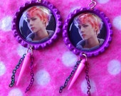 Sexy EXO Rainbow Sehun Wolf Kpop Earrings