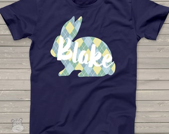 Easter shirt boy Easter bunny DARK Tshirt