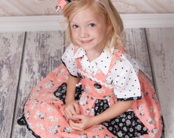 Girl Birthday Outfit - Girls Boutique Clothing - Girl Skater Skirt - Girls Dresses - Girl Boutique Clothes - sizes 2T to 10 Years