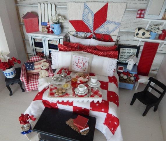 Miniature Americana Breakfast Tray/Board-Miniature Dollhouse