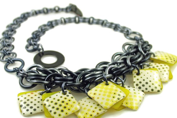 Citron is the New Neutral Modified Bib Necklace