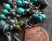 Sobriety Nothing Owns Me Today Bracelet AA Alcoholics AnonymousRecovery Inspirational Charm Triangle