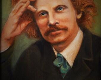 Print - Daniel Dunglas D.D. Home Portrait     Victorian Physical Medium Psychic