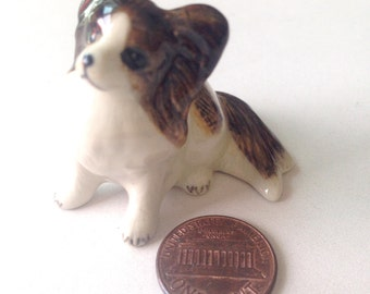 Dog figure, Chihuahua, White Brown Ceramic Dog Figure, ceramic figure, animal figure, dog figurine, animal figurine, decoration, decor