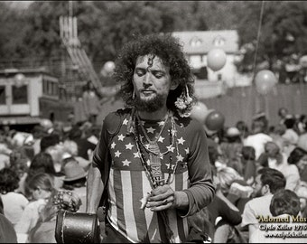 Hippie, ADORNED MUSICIAN, Clyde Keller Photo, Fine Art Print, Black and White, see Huff Post Article, Ken Kesey, published image