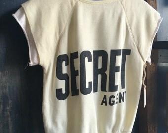 Vintage secret agent sweatshirt