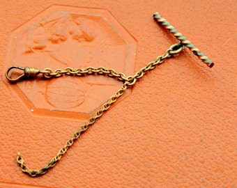 Antique Victorian Watch Fob GWC & CO Gold Filled 19c Pocket Watch