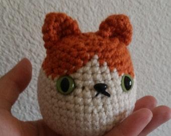 Amigurumi Orange Cat Crochet Doll - Premade