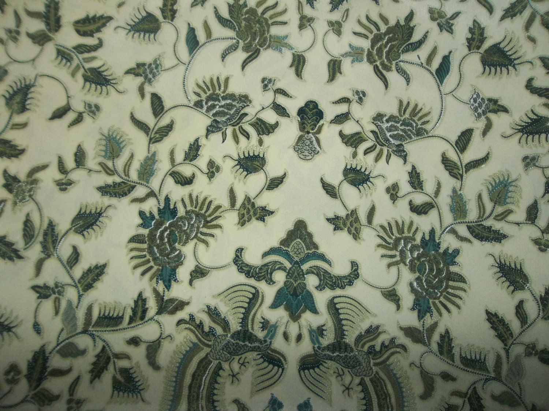 Indonesian Batik Fabric Wool Peach Textile Batik Delila
