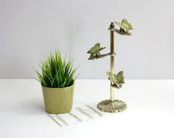 Vintage Brass Butterfly Clip Display Stand by Allied Brass