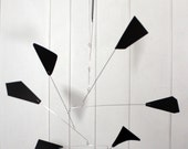 Mobile Mid Century Modern Wing Style - Kinetic Mobile Calder Inspired For Your Modern Home or Office - 24w x 31t - P135