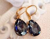 Black Diamond Victorian Earrings - Black - Victorian Jewelry - Classic Elegance - CAMBRIDGE Black Diamond