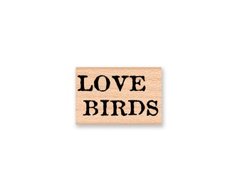 LOVE BIRDS Rubber Stamp~Wedding~Valentine's Day~Anniversary~Card Making~Wood Mounted Stamp~Mountainside Crafts (35-16)