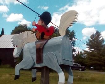 Jumbo mailbox horse and ride mailbox roam horse mailbox. Hunter horse mailbox, jumper horse mailbox
