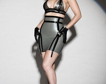 Latex Rubber Sylvie high waist skirt