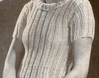 Three Hour Jumper Vintage Knitting Pattern 229