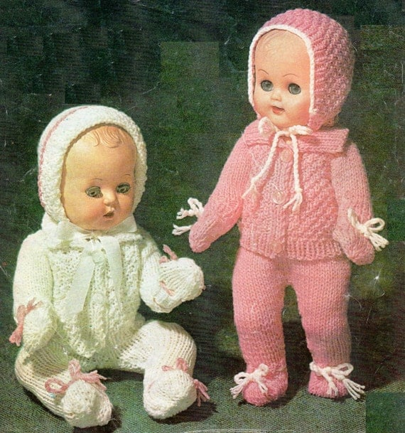 Post Free Dolls Clothes Knitting Pattern / 8ply Double Knit