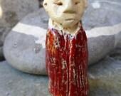 Artisan made ceramic pendant - Little Lama - seal pendant - amulet - dove