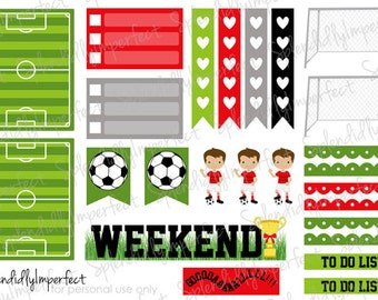 Soccer Kids stickers for Erin Condren Life Planners