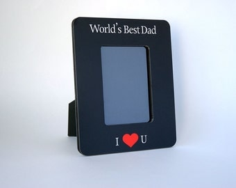worlds best dad picture frame 4x6 5x7 fathers day gift first fathers day gift from baby from daughter from son fathers day frame