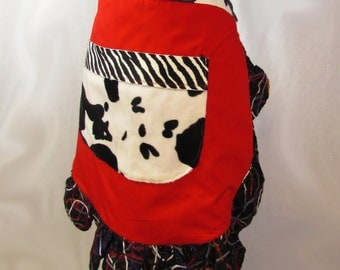 Cowhide Red Apron