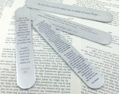Personalized Bookmark, Metal Bookmark, Engraved Bookmark, Silver Bookmark, Engraved, Engraving, Book, Bookmark, Author, Reader, gift