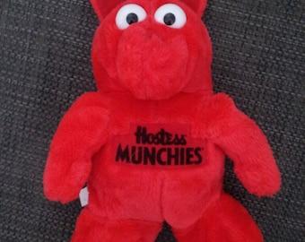Sale Vintage Rare 1980s HOSTESS MUNCHIES RED Plush Doll Popple Style