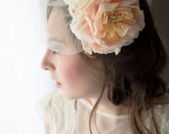 Bridal hat, birdcage veil, birdcage veil hat, Wedding hat, cocktail hat, flower cocktail hat, bridal cocktail hat, wedding hat, hat,
