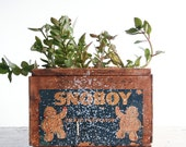 Rustic Wooden Fruit Crate / SnoBoy / Urban Farmhouse / Industrial Decor