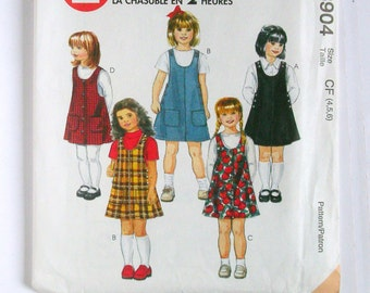 Girls' Jumpers - McCalls 8904 - Uncut Sewing Pattern, Sizes 4, 5, and 6