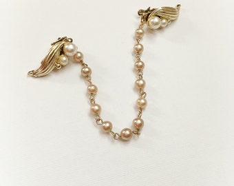 Vintage Faux Pearl Sweater Clip