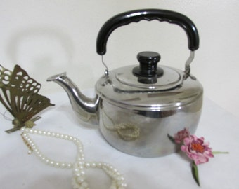 Chrome Tea Kettle Water Heating Teapot