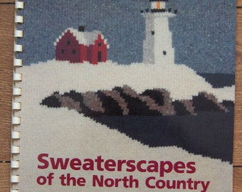 Vintage 1991 Knitting patterns SWEATERSCAPES of the North Country unique intarsia patterns landscapes