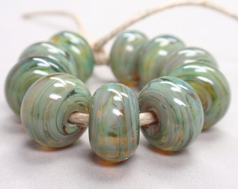 Bigger Multicolor Swirls  - 10 Handmade Lampwork Beads SW 162