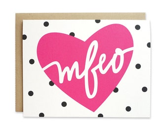 Printable / Love Card / Made for Each Other / MFEO