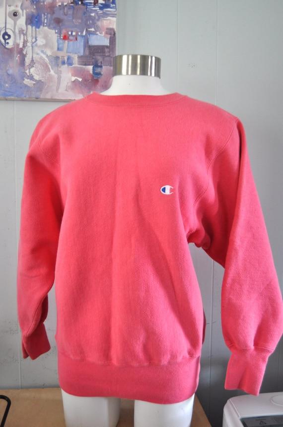 Vintage Champion Sweatshirt Pink Reverse Weave 90s Sports