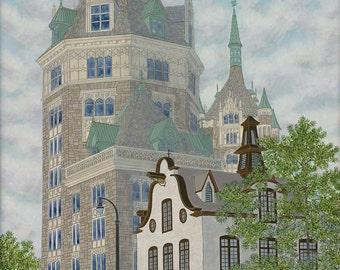 Broadway Icons (Albany, New York) - Fine Art Giclee Print