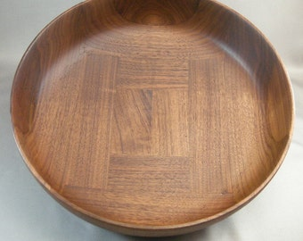 Mid Century Artisan Walnut Salad Bowl, Salad Bowls, Classic Mid Century Bowls, Artisan Wood Salad Bowls, Cool Wooden Bowls,**USA ONLY**