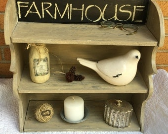 Vintage Farmhouse Kitchen Shelf