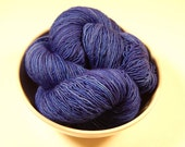 Hand Dyed Sock Yarn - Sock Weight Superwash Merino Wool Singles Yarn - Cobalt - Knitting Yarn, Sock Yarn, Wool Yarn, Blue Tonal Yarn