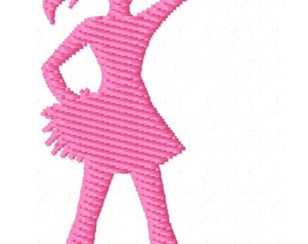 Cheerleader 1 Machine Embroidery Mini Design