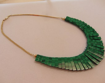 Malachite and 14kt Gold Necklace