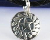 "RESERVED for Chad - Custom Designed African Adinkra Symbol ""New Beginnings"" Sesa Wo Suban Fine Silver Pair of Earrings"