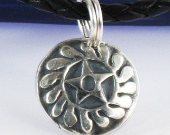 "African Adinkra Symbol for New Beginnings SESA WO SUBAN - African Adinkra Fine Silver Pendant ""New Transformation"" - ""New Beginning"" Pendant"