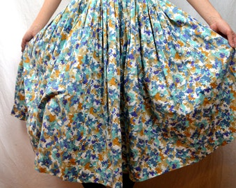 Cute Vintage Geometric Cotton 1950s 50s Skirt