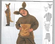Uncut, Child Size 4/5, 6/7, 8/9, Sewing Pattern Costume, Burda 2762, Boy, Girl, Toddler, Kangaroo, Animal, Children, Easy, Pants, Top, Ears