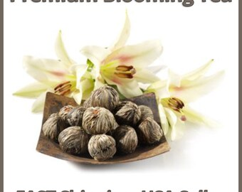 Premium Blooming Tea Sampler (8 Tea Balls veriety),Individually wrapped,  Buy 2 Get 1 FREE, Buy 3 Get 2 FREE