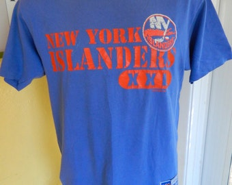 New York Islanders 1980s vintage tee shirt - blue size large